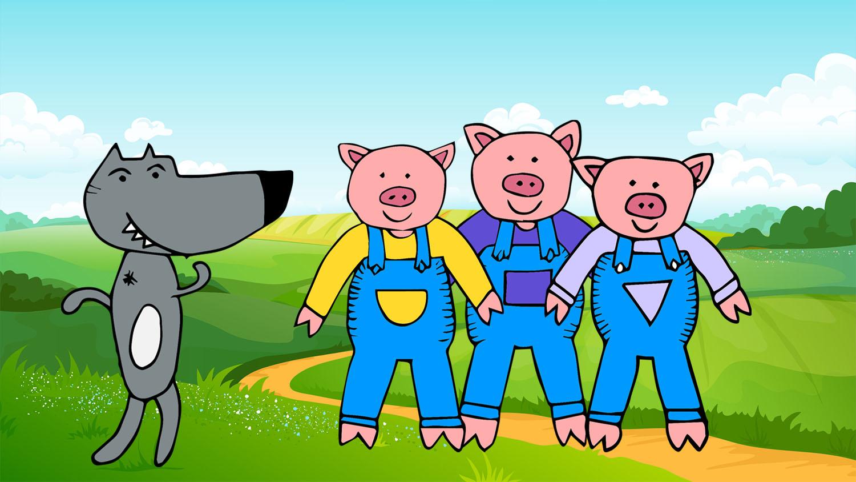 Baby Beats Three Little Pigs