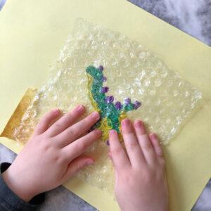 Bubble wrap art painting