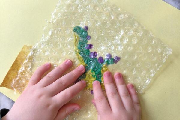 Bubble Wrap Painting - Creative Kids